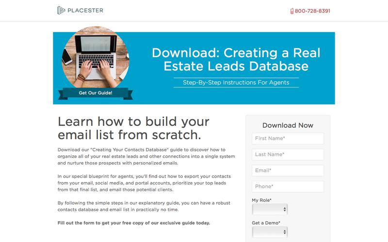Creating a Real Estate Leads Database - Placester