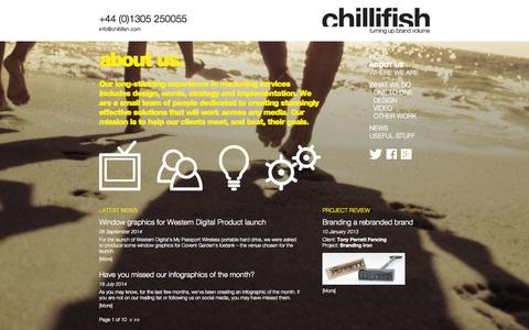 Screenshot of About Page chillifish.com - About Chillifish in Dorchester, Dorset | Chillifish - captured Sept. 29, 2014