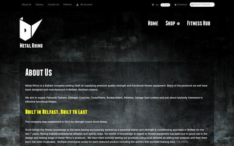 Screenshot of About Page metalrhino.com - About Metal Rhino | Metal Rhino - captured Oct. 27, 2014