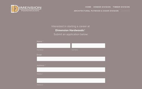Screenshot of Jobs Page dimensionhardwoods.com - Careers — Dimension Hardwoods - captured March 21, 2019