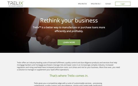 Screenshot of Home Page trelix.com - Trelix - captured Nov. 12, 2018