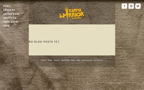 Screenshot of Press Page karmawarriorclothes.com - News — Karma Warrior Clothes - captured Sept. 30, 2014