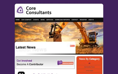 Screenshot of Press Page coreconsultantsgroup.com - News | Core Consultants - captured Oct. 3, 2014