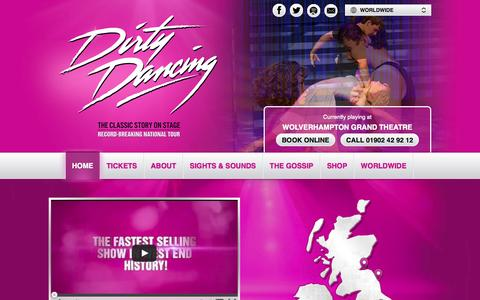 Screenshot of Home Page dirtydancingontour.com - Dirty Dancing – The Classic Story On Stage - captured Oct. 5, 2014