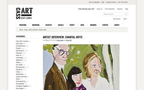 Screenshot of cassart.co.uk - Artist Interview: Chantal Joffe   Cass Art - captured March 19, 2016