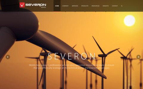 Screenshot of Home Page severon.com.au captured Nov. 17, 2016
