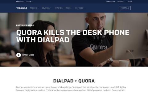 Quora Kills the Desk Phone | Dialpad | Dialpad