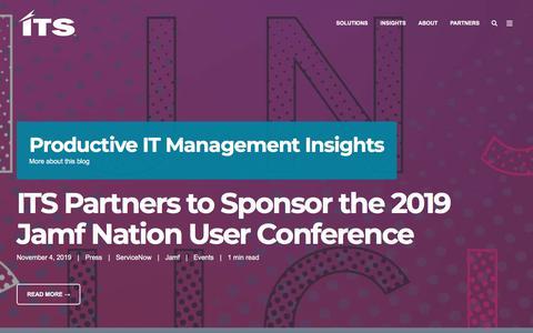 Screenshot of Blog itsdelivers.com - Productive IT Management Insights - captured Nov. 9, 2019
