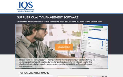 Screenshot of Landing Page iqs.com - IQS offers quality management software  for manufacturing - captured July 21, 2017