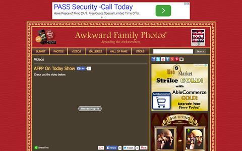 Screenshot of Press Page awkwardfamilyphotos.com - Press « Video Categories «  AwkwardFamilyPhotos.com - captured Oct. 29, 2014