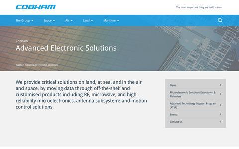 Cobham plc :: Advanced Electronic Solutions