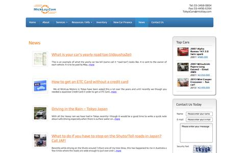 Screenshot of Press Page micklay.com - News | MickLay Motors - captured Nov. 19, 2016