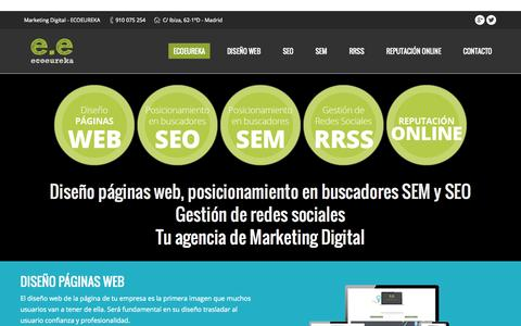 Screenshot of Home Page ecoeureka.com - Marketing Digital   Posicionamiento en buscadores - captured Sept. 17, 2015