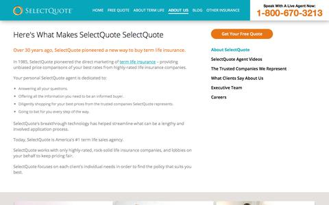About SelectQuote Term Life Insurance | SelectQuote