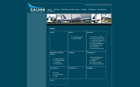 Screenshot of Site Map Page cal.co.il - Site Map - CAL Cargo Air lines - captured July 20, 2014