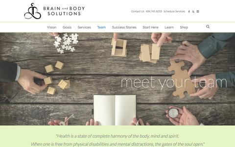 Screenshot of Team Page brainandbodysolutions.com - Team - Atlanta - Brain and Body Solutions - captured Oct. 11, 2017