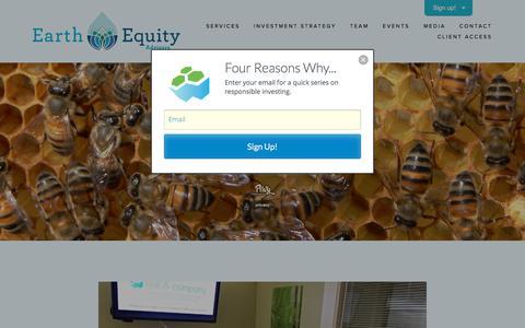 Screenshot of Jobs Page earthequityadvisors.com - Careers — Earth Equity Advisors - captured Oct. 17, 2017