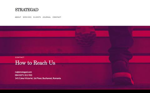 Screenshot of Contact Page strategad.com - Contact  /  STRATEGAD - captured Nov. 9, 2017