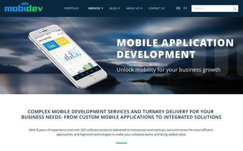 Screenshot of Services Page mobidev.biz - Mobile App Development Company | Custom App Design Services - MobiDev - captured Oct. 15, 2017