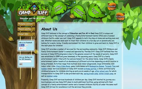 Screenshot of About Page campiliff.com - About Camp Iliff and What They Do - Camp Iliff - captured Oct. 1, 2014