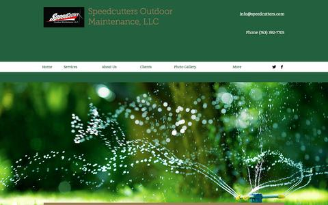 Screenshot of About Page speedcutters.com - About Us| Speedcutters Outdoor Maintenance - captured Nov. 14, 2017