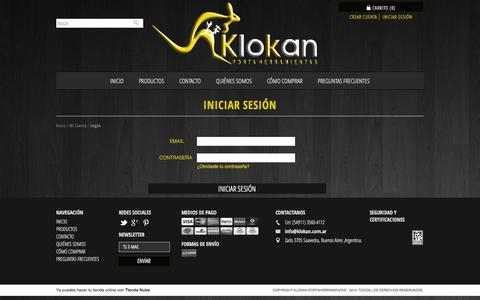 Screenshot of Login Page klokan.com.ar - Klokan-Portaherramientas — Klokan-Portaherramientas - captured Oct. 6, 2014