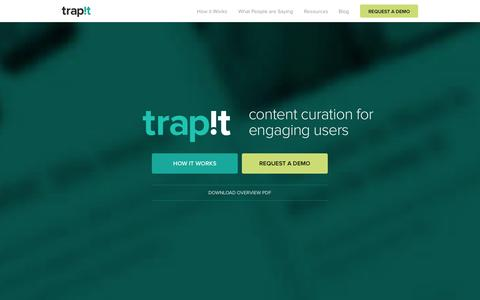 Screenshot of Home Page trap.it - Trapit - captured Sept. 17, 2014