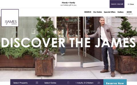 Screenshot of Jobs Page jameshotels.com - Hotel Careers In NYC | Apply Today | The James Hotels - captured Dec. 12, 2018