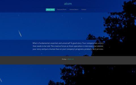 Screenshot of About Page atomcreative.tv - atom - captured Oct. 5, 2014