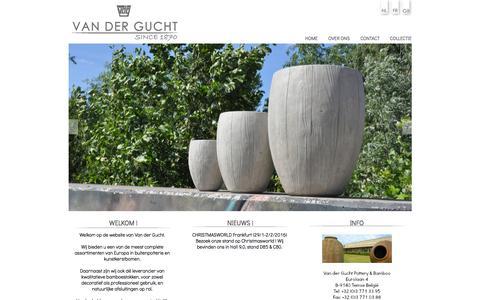 Screenshot of Home Page vdg.be - INDEX Van der Gucht - captured Feb. 13, 2016