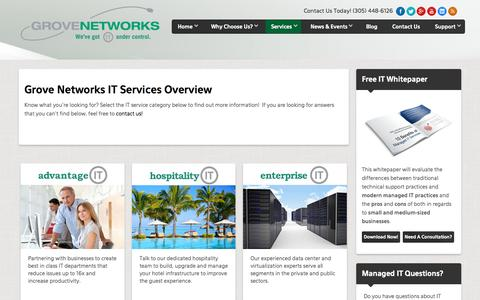 IT Services Overview | IT Support - Miami | Grove Networks