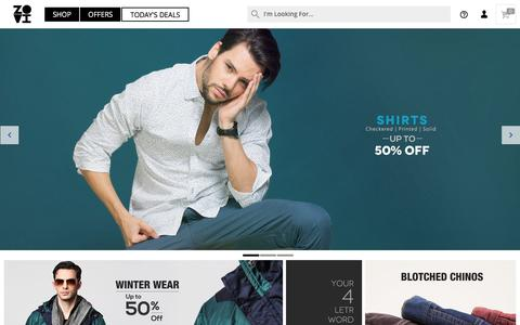 Screenshot of Home Page zovi.com - Online Shopping: Shop online for Mens Shirts, Mens Tees and more - Zovi.com - captured Dec. 4, 2015
