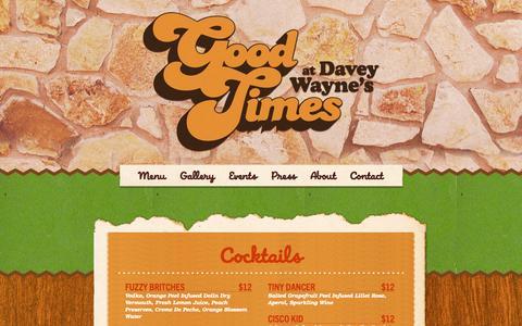 Screenshot of Menu Page goodtimesatdaveywaynes.com - Menu – Davey Wayne's - captured Nov. 3, 2014
