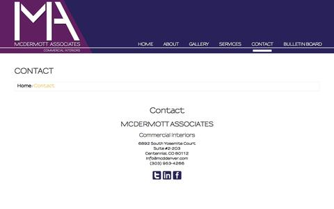 Screenshot of Contact Page mcddenver.com - Contact  |  MCD Denver - captured Feb. 12, 2016