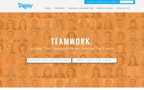 Screenshot of Jobs Page tacony.com - Tacony Corporation. Tradition - Trust - Teamwork - captured Oct. 19, 2016