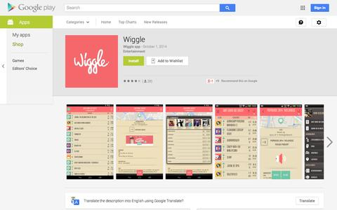 Screenshot of Android App Page google.com - Wiggle - Android Apps on Google Play - captured Oct. 26, 2014