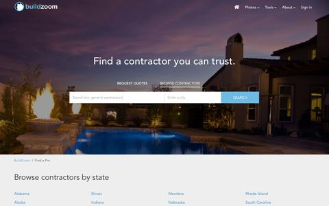Screenshot of Site Map Page buildzoom.com - Find a contractor you can trust on BuildZoom - captured April 29, 2016