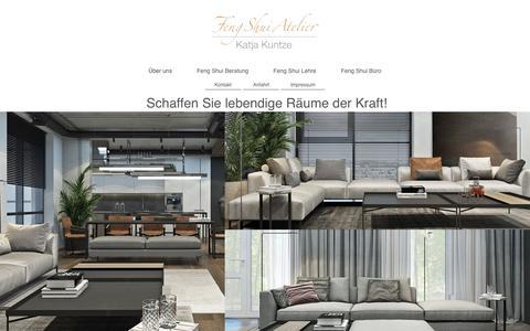 Screenshot of Home Page feng-shui-atelier.de - Feng Shui Atelier, Feng Shui Beratung, Feng Shui Einrichtung & Möbel - Über uns - captured April 4, 2017