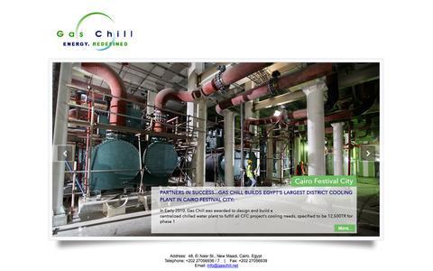 Screenshot of Home Page gaschill.net - Gas Chill - captured Sept. 29, 2014