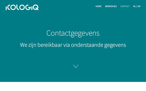 Screenshot of Contact Page icologiq.nl - Contact - icologiq.nl - captured Sept. 11, 2018