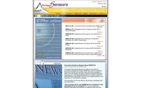 Screenshot of Press Page budgetsensors.com - BudgetSensors¨ Oficial Web Site | News - captured Jan. 7, 2016