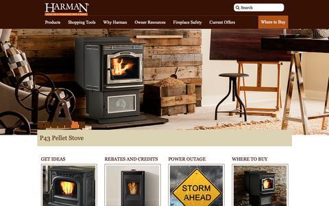 Screenshot of Home Page harmanstoves.com - Harman Stoves | Built to a Standard, Not a Price - captured Nov. 15, 2018