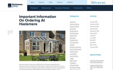 Screenshot of Blog hazlemere.co.uk - Hazlemere Blog   Conservatories, Double Glazing Windows & Doors - captured Jan. 27, 2016