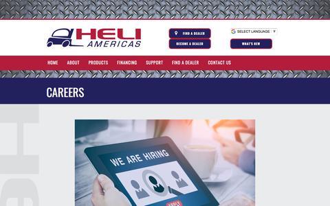 Screenshot of Jobs Page heliamericas.com - Careers : Heli Americas - captured July 18, 2018