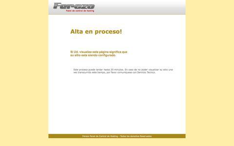 Screenshot of Home Page rcpinternacional.com - Ferozo - Panel de Control de Hosting - captured Sept. 20, 2018