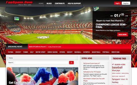 Screenshot of Home Page Blog fanspam.com - Welcome to FanSpam.Com - Where Fan's Spam! - captured Sept. 30, 2014