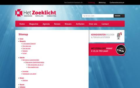 Screenshot of Site Map Page zoeklicht.nl - Sitemap - captured Oct. 2, 2014