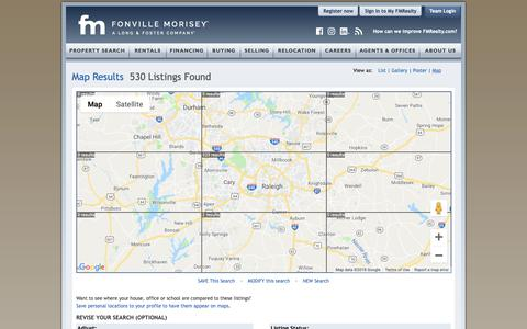 Screenshot of Maps & Directions Page fmrealty.com - Raleigh Durham Real Estate Interactive Map | Fonville Morisey Real Estate - captured Oct. 13, 2018