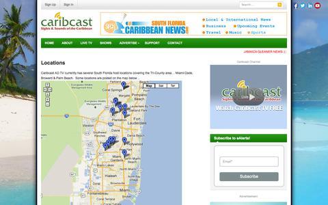 Screenshot of Locations Page caribcast.tv - Locations | Caribcast - captured Oct. 28, 2014