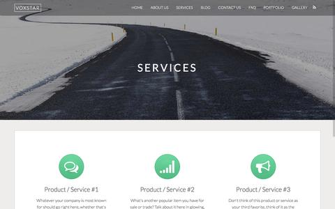 Screenshot of Services Page voxstar.com - Services – Voxstar - captured Dec. 19, 2016